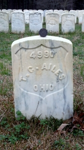 Grave #4990 final resting place of Theo Ailes. Company I, 20th OVI